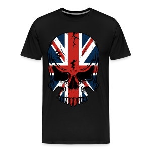 The British Flag Skeleton  - Men's Premium T-Shirt