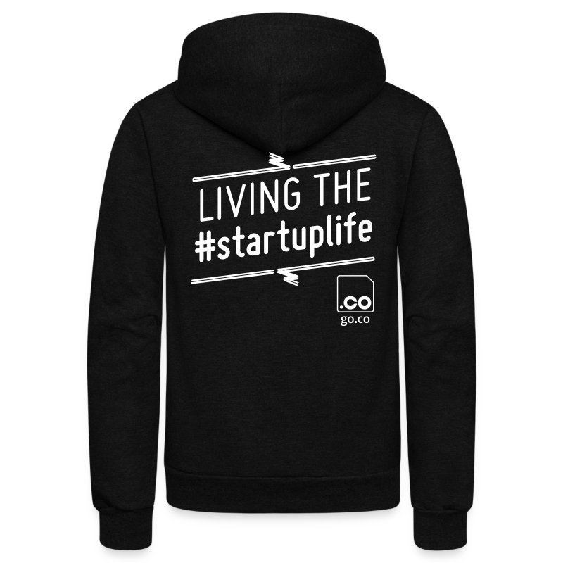 Startuplife Hoodie - Men's - Unisex Fleece Zip Hoodie by American Apparel