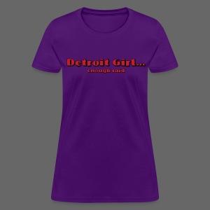 Detroit Girl - Women's T-Shirt