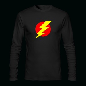 Flash Red Yellow - Men's Long Sleeve T-Shirt by Next Level