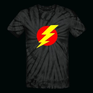 Flash Red Yellow - Unisex Tie Dye T-Shirt