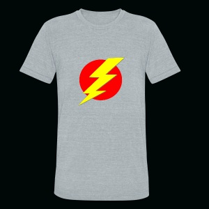 Flash Red Yellow - Unisex Tri-Blend T-Shirt by American Apparel