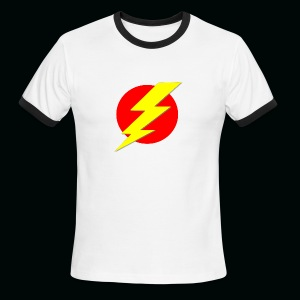 Flash Red Yellow - Men's Ringer T-Shirt