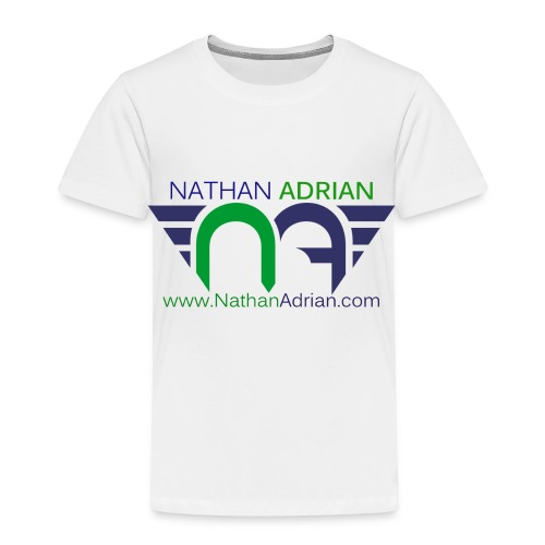 Logo/Website on Front, Nothing on Back - Toddler Premium T-Shirt