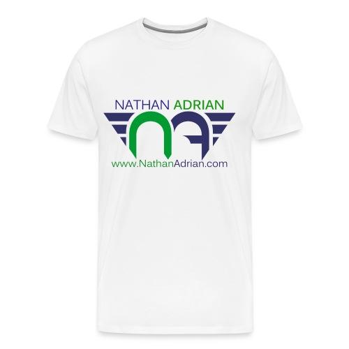 Logo/Website on Front, Nothing on Back - Men's Premium T-Shirt