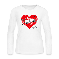 Long Sleeve Shirts ~ Women's Long Sleeve Jersey T-Shirt ~ Mwuah!