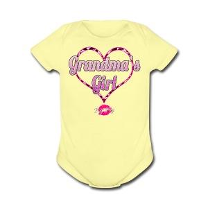 Grandma's Girl - Short Sleeve Baby Bodysuit