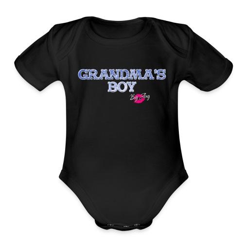 Grandma's Boy - Organic Short Sleeve Baby Bodysuit