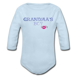 Grandma's Boy - Long Sleeve Baby Bodysuit