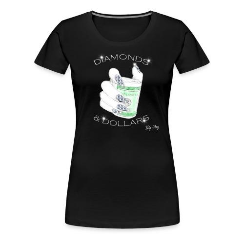 Diamonds & Dollars - Women's Premium T-Shirt