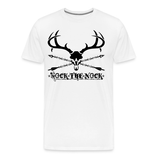 RTN Deer Skull With Arrows - Men's Premium T-Shirt