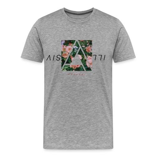 Illusive Floral Tee | Heather Grey - Men's Premium T-Shirt