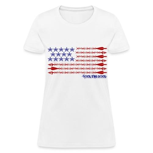 Ladies - RTN USA Flag Horizontal - Women's T-Shirt