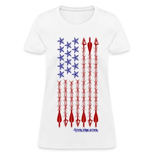Ladies - RTN USA Flag Vertical - Women's T-Shirt