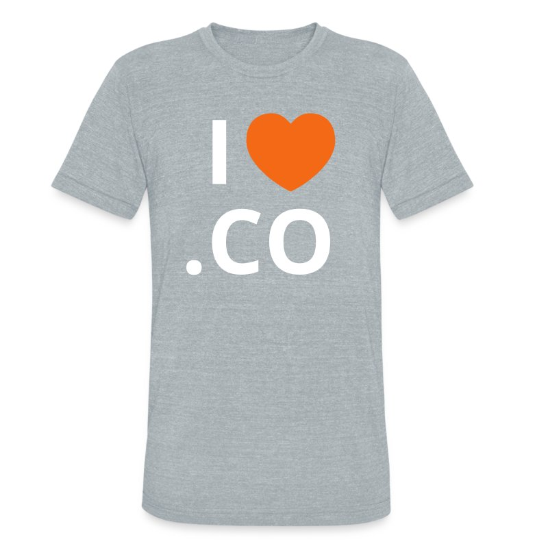I heart .CO Tshirt - Men's Vintage - Unisex Tri-Blend T-Shirt by American Apparel