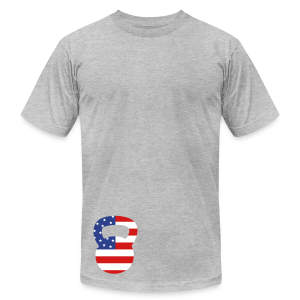 Kettlebell American Workout T-Shirts - Men's T-Shirt by American Apparel