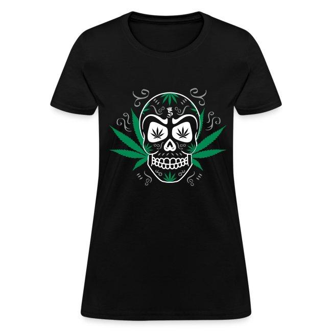 Logo SwagganceGanja T Skull Shirt Womens 3c ULqGMpzSV