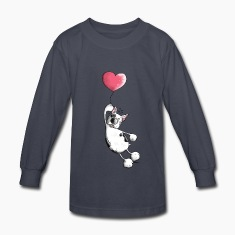 French Bulldog With Heart - Dog Kids' Shirts
