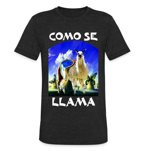 Dali Llama White - Unisex Tri-Blend T-Shirt