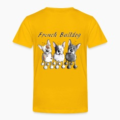 Three French Bulldogs - Bulldog - Dog Baby & Toddler Shirts