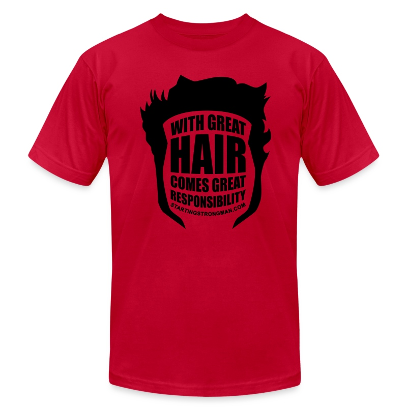 With Great Hair (Velvet) - Men's T-Shirt by American Apparel