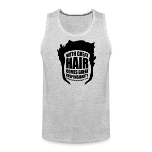 With Great Hair (Velvet) - Men's Premium Tank