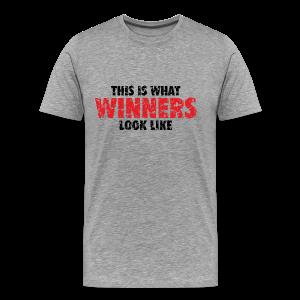 Winner T-Shirt (Gray) Men - Men's Premium T-Shirt