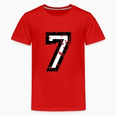 Number Seven T-Shirt No.7 (Kids Red)