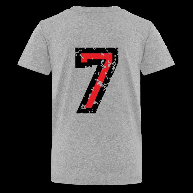 Number Seven T Shirt No7 Kids Grey Back