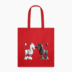 Black And White Poodle - Dog Bags & backpacks