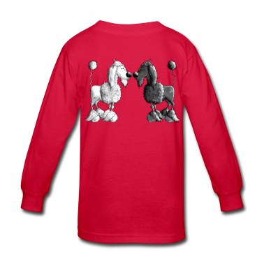 Black And White Poodle - Dog Kids' Shirts