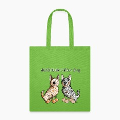 Two funny Australian Cattle Dogs - Dog Bags & backpacks