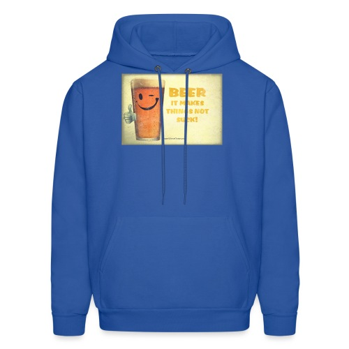 Beer It Makes Things Not Suck Men's Hooded Sweatshirt - Men's Hoodie