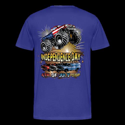 Back American Monster Truck - Men's Premium T-Shirt