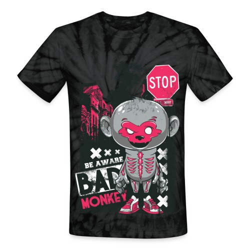 Bad Monkey Tie-Dye T-Shirt - Unisex Tie Dye T-Shirt