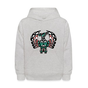 Northwest Pacific coast Haida art Thunderbird - Kids' Hoodie