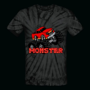 Monster Pickup Truck - Unisex Tie Dye T-Shirt