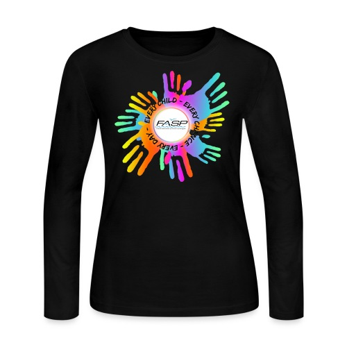 FASP logo hands - Women's Long Sleeve Jersey T-Shirt