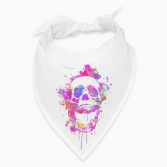 Cool & Trendy Watercolor Skull Caps