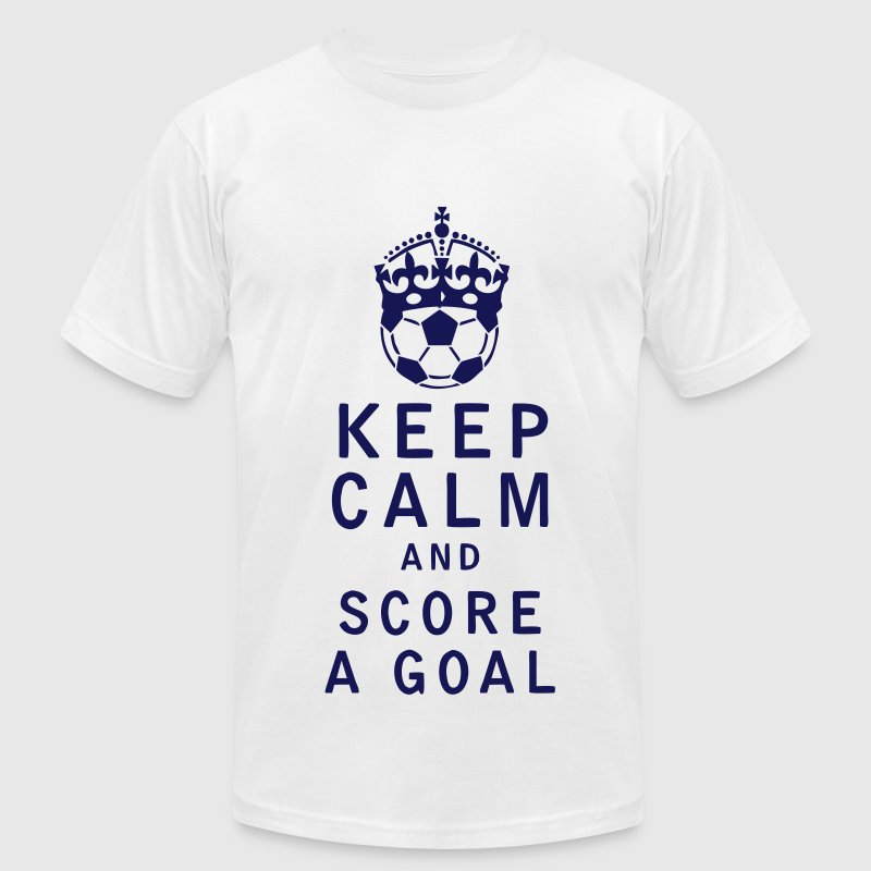Keep Calm and Score a Goal - Men's T-Shirt by American Apparel