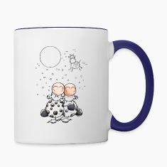 Romantic Cow Star - Cows Bottles & Mugs