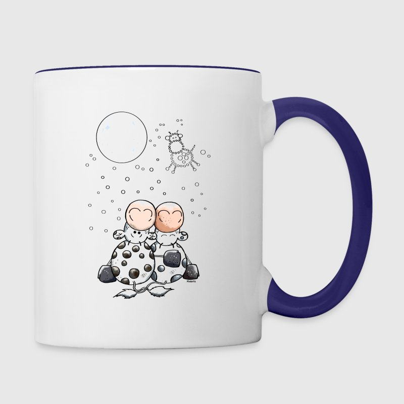 Romantic Cow Star - Cows Bottles & Mugs - Contrast Coffee Mug