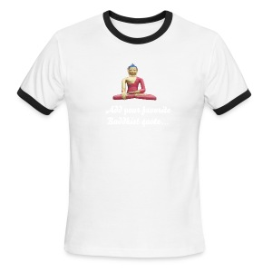 Buddha In Mediation T-Shirt - Men's Ringer T-Shirt