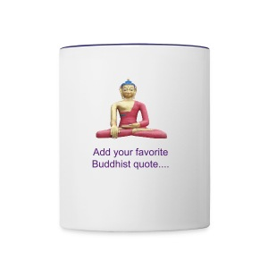 Buddha Sitting In Meditation Mug - Contrast Coffee Mug