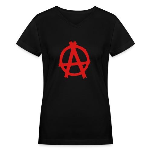 anarchy - Women's V-Neck T-Shirt
