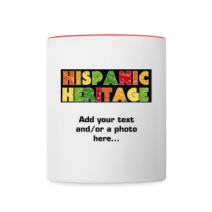 Hispanic Heritage Personalized Coffee Mug - Contrast Coffee Mug