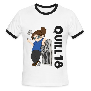 Old School Quill18 (Big Ringer) - Men's Ringer T-Shirt