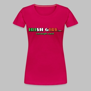 Irish Girl - Women's Premium T-Shirt