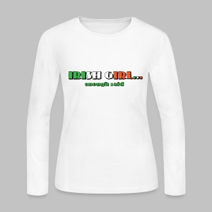 Irish Girl - Women's Long Sleeve Jersey T-Shirt