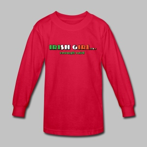 Irish Girl - Kids' Long Sleeve T-Shirt